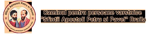 Caminul pentru persoane varstnice Sfintii Apostoli Petru si Pavel Braila Logo